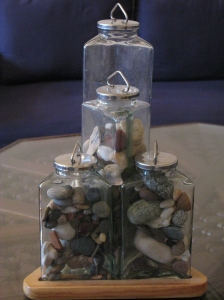 our set of stone jars