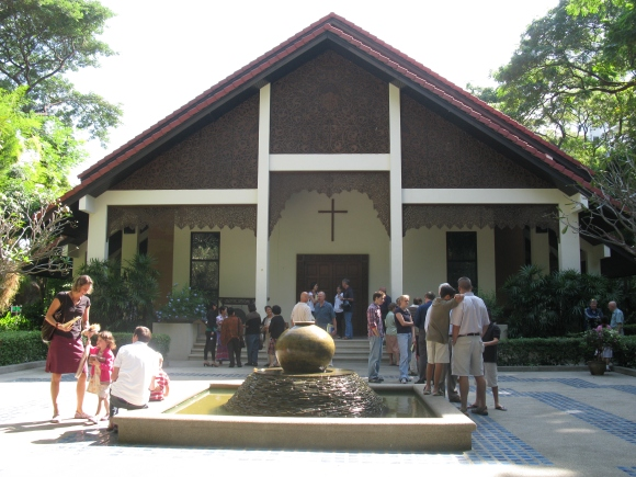 a Jesuit mission church in predominantly Buddhist Thailand
