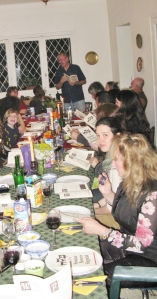 Half of our dining room filled with our local extended family
